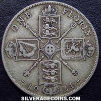 1921 George V British Silver Florin (2 Shillings)