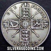 1922 George V British Silver Florin (2 Shillings)