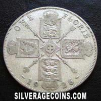 1926 George V British Silver Florin (2 Shillings)