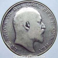 1907 Edward VII British Silver Half Crown