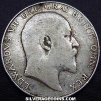 1908 Edward VII British Silver Half Crown