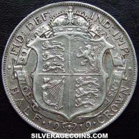 1919 small rev. George V British Silver Half Crown