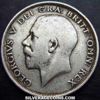 1912 George V British Silver Half Crown