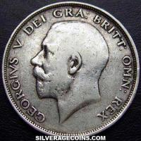 1913 George V British Silver Half Crown
