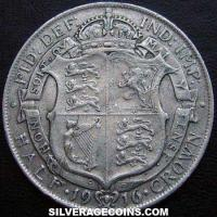 1916 George V British Silver Half Crown