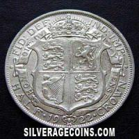1922-3D George V British Silver Half Crown