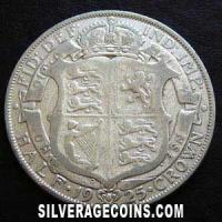 1925 George V British Silver Half Crown