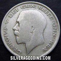 1920-3B George V British Silver Half Crown
