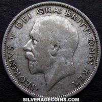 1930 George V British Silver Half Crown