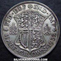 1932 George V British Silver Half Crown