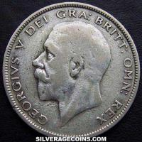 1934 George V British Silver Half Crown