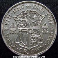 1936 George V British Silver Half Crown