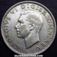 1940 George VI British Silver Half Crown