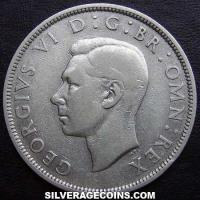 1941 George VI British Silver Half Crown