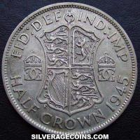 1945 George VI British Silver Half Crown