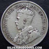 1917C George V Newfoundland Silver 25 Cents