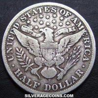 1901S United States Barber Silver Half Dollar