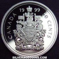 1999 Proof Elizabeth II Canadian Silver Proof 50 Cents