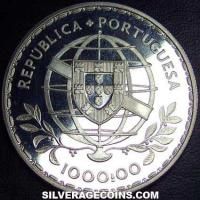 ND(1983) Proof Portuguese Silver 1000 Escudos (Louis de Camões)