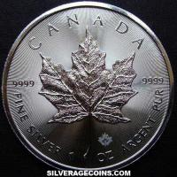 2015 Canadian 5 Dollars 1 Ounce Silver Maple Leaf (rays)