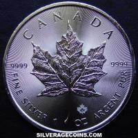 2016 Canadian 5 Dollars 1 Ounce Silver Maple Leaf (rays)