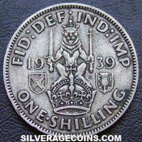 1939 George VI Scottish Silver Shilling