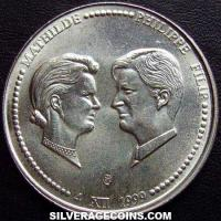 1999 Belgian Silver 250 Francs (Royal Marriage)