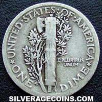 1918 United States Silver Mercury Dime 10 Cents