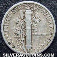 1925S United States Silver Mercury Dime 10 Cents