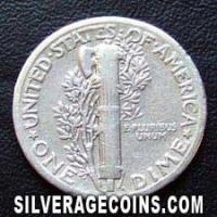 1935 United States Silver Mercury Dime 10 Cents