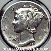 1943S United States Silver Mercury Dime 10 Cents