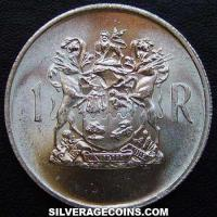 1969 South African Silver Rand (Dr. T.E. Donges, English)