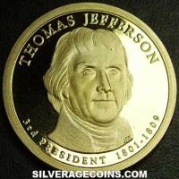 Dólar Estadounidense (Thomas Jefferson) de 2007 S Proof