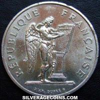 1989 100 French Silver New Francs (human rights)