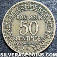 1923 French 50 Cents