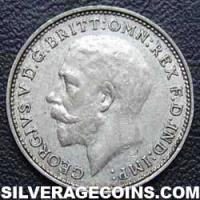 1925 George V British Silver Threepence