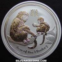 2016 50 Cents Australian Lunar Series II Silver 1/2 Ounce (Year of the Monkey)