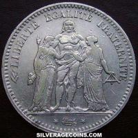 1848A 5 French Silver Francs (Hercules)