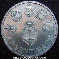 1978 Argentina Silver 2000 Pesos (World Cup)