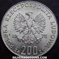 1975MW Poland Silver 200 Zlotych (Victory over Fascism)