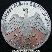 1972 G German Federal Republic Silver 10 Marks (Munich Olympics)