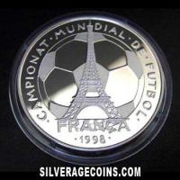 1997 Proof Andorra 10 Diners Silver Proof (1998 Football World Cup )