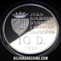 1994 Proof Andorra 10 Diners Silver Proof (1996 Summer Olympics)