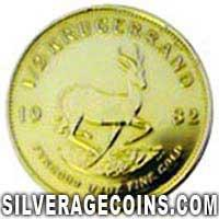 1982 South African Half Ounce Gold Krugerrand