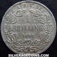 1896 South African ZAR Silver Shilling
