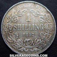 1897 South African ZAR Silver Shilling