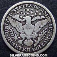 1900 United States Barber Silver Quarter