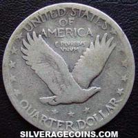 "1928 S small S United States ""Standing Liberty"" Silver Quarter Dollar(type 2 obverse)"