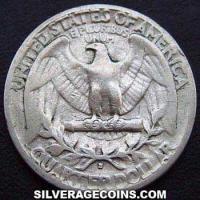 "1944 S United States ""Washington"" Silver Quarter Dollar"