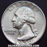 1950 United States Washington Silver Quarter